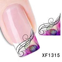 Free shipping fashion style watermark 1 Sheets 3D Design cute pink leaf Tip Nail Art nail sticker nails Decal nail tools
