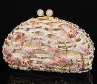 2014 Fashion Crystal Clutch Purse For Ladies Birds Bag Diamond Clutch Bag S08125
