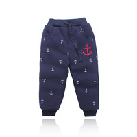 K2-013 male child print thickening cotton-padded trousers child casual pants collcction children's clothing winter