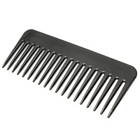 1Pcs Salon Black Plastic Cutting Hair Tooth Comb Barber Hairdressing Hairbrush Professional Salon Hair Combs Free Shipping