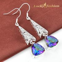 Shiny Full rhinestone Earring 2014 Colorful Austrian Crystal Earrings Wedding jewelry