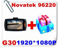 1pcs free gift+G30 CAR DVR Novatek 96220 1080P 2.7 Inch Lcd 140 degrees CAR DVR Camera Night Vision G-Sensor