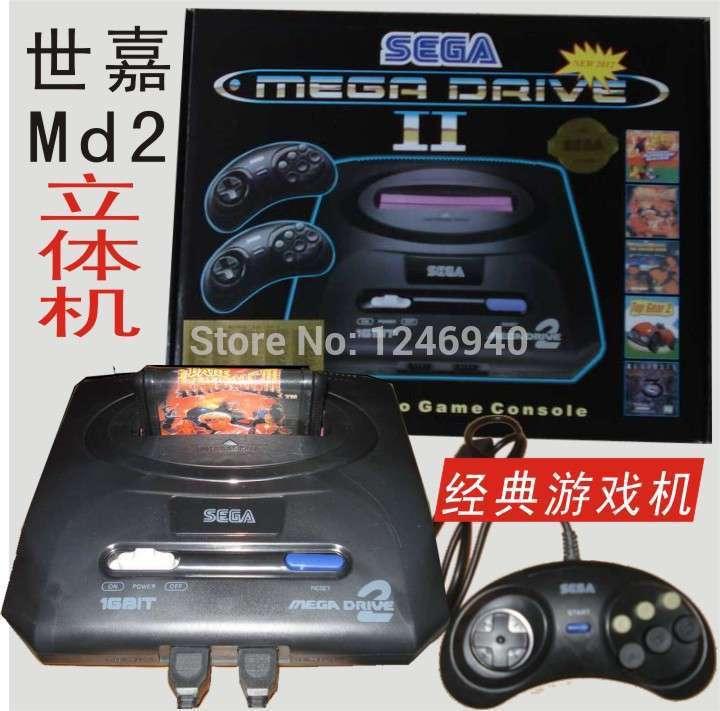 free shipping Sega MD2 TV video game console games, sega stereoscopic machine, classic card 16 bit sega children game toys(China (Mainland))