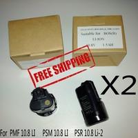 Replacement Li-ion Bosch battery 10.8V 1.5Ah PMF 10.8 LI PSR 10.8 Li-2 2 607 336 864