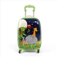 The children draw bar box 18 inch boot universal wheel cartoon boy genuine travel bags