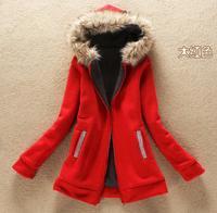 The 2014 Women Winter Warm Fleece Hoodis With Thickened Cashmere Fleece Jacket Keep Warm cloth