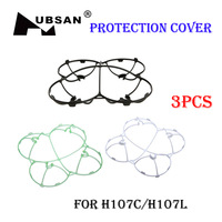 Free Shipping Hubsan x4 H107C H107L Protection Cover 3pcs/lots Hubsan Parts Blades Propellers Guard for V252 JXD385 Quadcopter