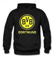 BVB Dortmund soccer fans plus velvet bvb hoodie jacket sweatshirts Korean version of the trend of movement