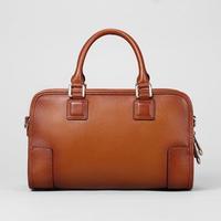Women bag 100% Genuine Leather vintage woman handbag Interlocking Shoulder Bag for women 2015 new