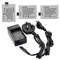 3X LP-E5 Batteries LP E5 LPE5 Camera Battery For Canon EOS 450D 500D 1000D KISSX2 KISSX3 KISS X2 X3+ Charger
