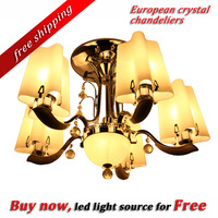 free shipping!Topsale high quality 100% guarantee Ceiling Light Modern European Crystal chandelier lamp living room dining light
