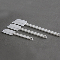 Plastic cake spatula baking pastry spatulas rubber scraper baking utensils poleaxe cream white rubber knife tools 3pcs/set