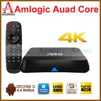 10pcs/lot M8N XBMC Gotham 13 Android Kitkat TV Box Amlogic S802 Quad Core 2.0GHz 2GB 8GB 2.4G/5G Dual WiFi DOLBY TrueHD DTS