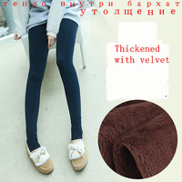 2014 plus cashmere leggings woman girls Casual Warm Winter Faux Velvet Knitted Thick Slim Leggings Super Elastic 5 colour DD001