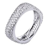 2014 new season women's zirconia finger ring birthday gift platinum plated free shipping