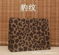 Leopard kraft paper bag ,Polka dot kraft paper bag & Festival gift package, ( 33*26*12cm) ,Free shipping