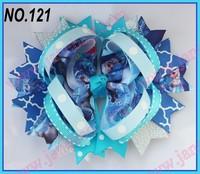 free shipping 120pcs 5.5''  B- ring hair bows christmas frozen hair bows girl hair accessories popular hair clips