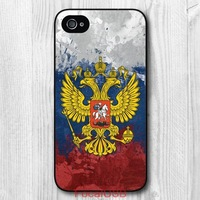 5 pcs Vintage Russia Flag Protective Hard Back Cover Case For iPhone 4 4S 5 5S 5C