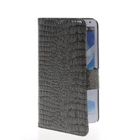 High Quality Card Slot Stand Movie Crocodile Skin Wallet Side Flip Leather Pouch Case Protector For Samsung Galaxy Note 3 N9000