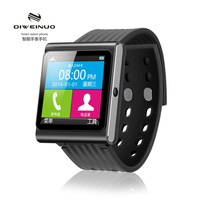"New Arrival DIWEINUO D6 1.54"" Touch Screen SmartWatch Phone Wrist phone Compatible Android/IOS Handfree Moible FM Camera MP3"