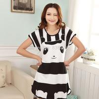 Ms. Shantou direct milk silk nightgown summer cute cartoon short-sleeved pajamas Pyjamas Wholesale