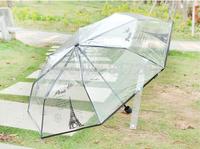 NEW Folding umbrella parapluie femme transparent Fresh Transparent umbrella Tower umbrella Free shipping ys010