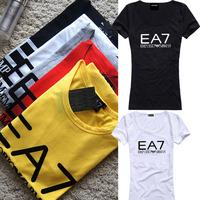 2014 New Fashion Brand Women T shirts with printed Ballinciaga Women Short Sleeve T-shirt Cotton Tops Street Tees S/M/L