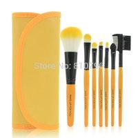 Top Sale A Set 7Pcs Professional Synthetic Hair Makeup Brush Set Kit Makeup Brushes tools Brand Make Up Brush Set Case Bag