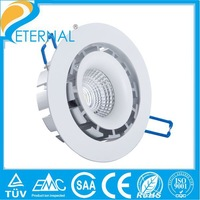Free shipping 2pcs a lot super thin with pretty well heat manage sharp cob  led downlight bulb