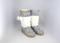 Freeshipping hot sale 36-41 Leopard print fashion snow boots