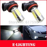 Free shipping, 2pcs No error CREE H11 LED Projector Fog Light Daytime Running Light Xenon White 11W For Mazda 6 Atenza 2013-2014