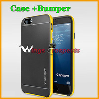 "Spigen SGP Neo Hybrid Case for iPhone 6 4.7"" / 6 plus 5.5"" Bumblebee Cover Dual Protection Soft TPU Case + PC Bumper"