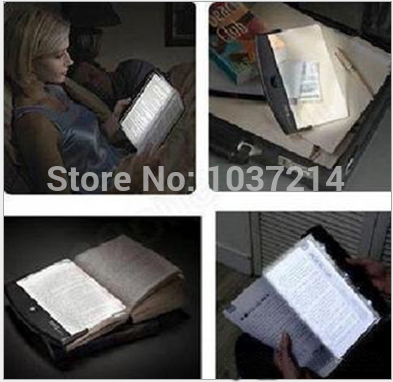 Book Reading LED Night Light Booklight Wedge Lightwedge free shipping(China (Mainland))