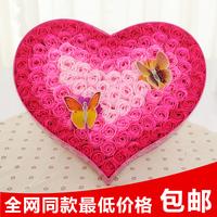 2014 Sale Top Fashion Freeshipping Wedding Decoration & Gift Gifts Fountain Girls Honey Birthday Gift 100 Soap Rose Flower Box