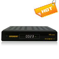 10piece/lot 2014 new Openbox V8 combo dvb s2 dvb t2 hd satellite receiver support cccam account better than azamerica s1001