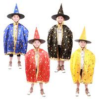 Halloween costumes children's cloak cloak performance suits five-star cloak female witch costume hat broom