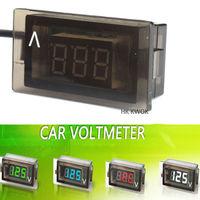 2014 NEW 12 V Car Motorcycle LED DC Digital Display Voltmeter Waterproof Meter 4 Color Free Shipping 15% off