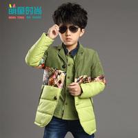 2014 new children's clothing autumn and winter jacket boy child casual cotton jacket Zhongshan University Children's thick padde