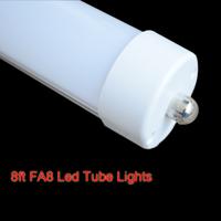 10pcs 8ft 40w FA8 Single Pin Base T8 LED Tube Lamp Light 5500K-6000K AC100~240V