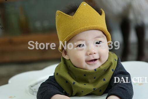 fedex/DHL 400pcs/lot wholesale cute Newborn Hair Band Crochet Knit Crown Infant Headband 5 color(China (Mainland))