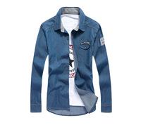 2014 New Spring Men'S Denim Shirt Long-Sleeved Dress Shirt Shirts RY14