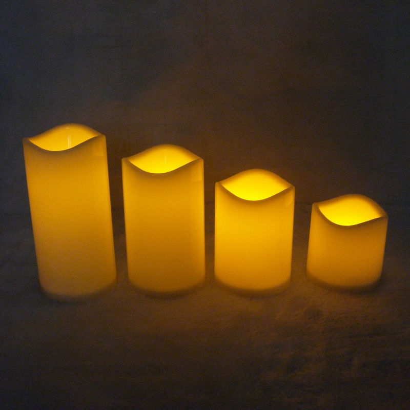 4 sizes Flickering Plastic LED Candle Light Battery (not incl) Operated Flameless Votive Candle Wedding Party Home Decoration(China (Mainland))