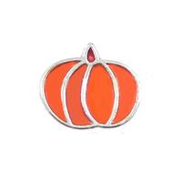 20pcs/lot Free Shipping Diy Fashion Alloy Enamel Orange Pumpkin Floating Charms For Origami Owl Memory Living Locket