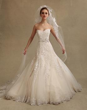 Сексуальное аппликация с открытой спиной принцесса свадебные платья 2014 суд поезд платья невест casamento vestido