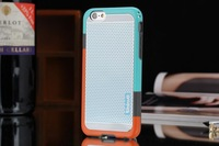 2014 newest South Korea's best-selling brand Double color soft TPU+PC Wave point hard case shockproof cover case for iPhone 6