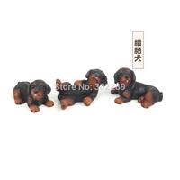 zakka polyresin playing dachshund dog figurine for home decoration 3pcs/set