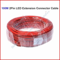 ( 20 reel/lot ) 100 Meters 2 Pin RGB LED Extension Connector Wire Cable Cord For 3528 5050 Single Color LED Strip Wholesale