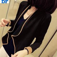 2014 New Women Cotton Coat Jackets Long Sleeve Irregular Loose Short Coat Casual Slim Women Clothing Coats Blazer Women Jackets