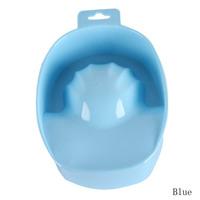 Drop Shipping Hot Sale 2pcs New UV Gel Acrylic Nail Art Tips Hand Soak Bowl Tray Treatment Remover Manicure Blue NA-00418-BL