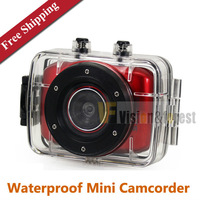 720P HD Mini Action Camcorder Waterproof Sport Camera Mini Camcorder Y5000  2 Inch Screen Waterproof DV Camera Free Shipping